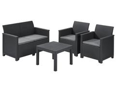 Bild zu Keter Lounge Set Emma 5-teilig für 149,99€ (Vergleich: 213,95€)