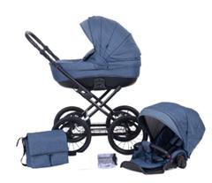 Bild zu knorr-baby Kombikinderwagen Kreta Blau mit Punkten für 407,53€ (Vergleich: 487,94€)