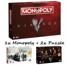 Bild zu Monopoly Vikings + zwei Vikings Puzzle (je 500 Teile) für 42,49€ (Vergleich: 61,92€)