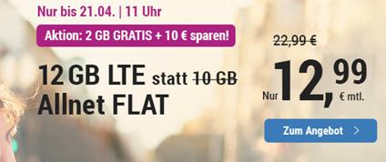 Bild zu Simply: monatlich kündbaren Vertrag im o2-Netz mit 12GB LTE Datenflat, SMS und Sprachflat für 12,99€/Monat
