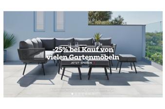 Bild zu Mömax: 25% Rabatt auf Gartenmöbel