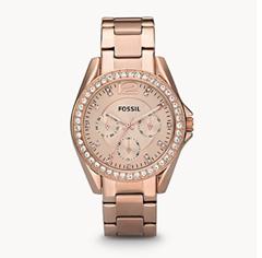 Bild zu Fossil Riley Damen Uhr Zirconia ES2811 für 50,66€ + kostenlose Gravur (Vergleich: 92,38€)