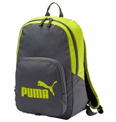 Bild zu PUMA Phase Backpack Rucksack grau/limette für 11,45€ (Vergleich: 17,90€)