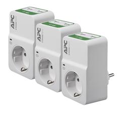 Bild zu APC PM1WU2 Trio Essential SurgeArrest Überspannungsschutz (1 Ausgang, 230 V, 2 USB-Ports mit Ladefunktion) für 24,90€ (Vergleich: 59,80€)