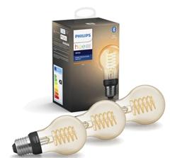 Bild zu Philips Hue 3xE27 Filament A60 – White – Bluetooth–Bundle für 44€
