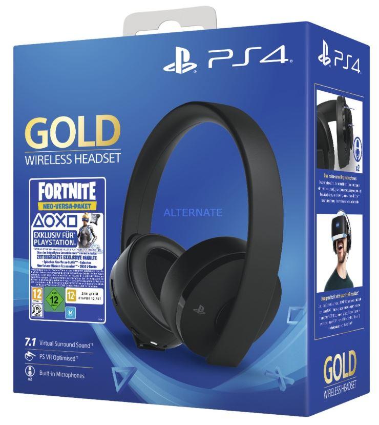 Bild zu Sony Gold Black Wireless 7.1 Gaming Headset – Fortnite Neo Versa Bundle PS4 59,86€ (VG: 80€)