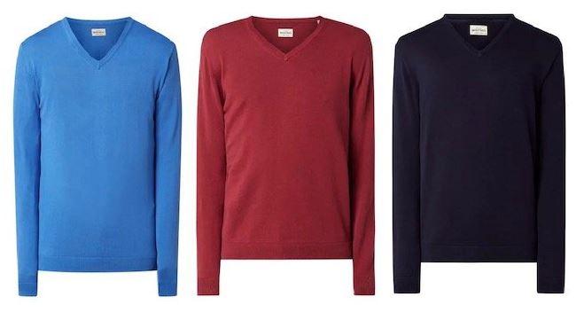 Bild zu Montego Pullover aus Baumwolle mit V-Ausschnitt ab 6,99€ inklusive Versand