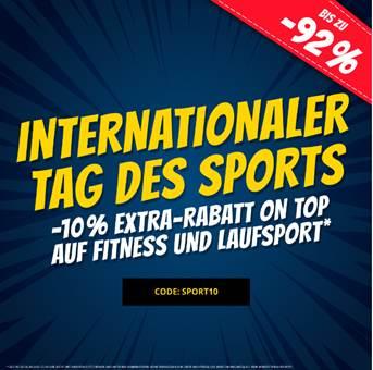Bild zu SportSpar: nur heute 10% Extra Rabatt auf Fitness und Laufsport