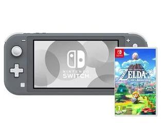 Bild zu NINTENDO Switch Lite grau Spielkonsole + The Legend of Zelda: Links Awakening für 224,98€ (VG: 261,95€)