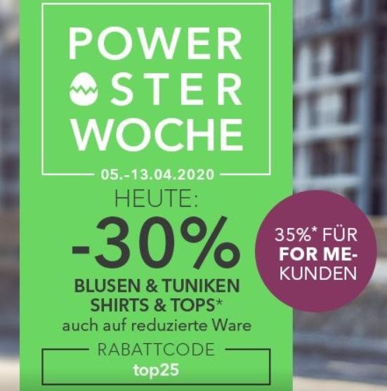Bild zu Sheego: 30% Rabatt auf Blusen, Tuniken, Shirts und Tops