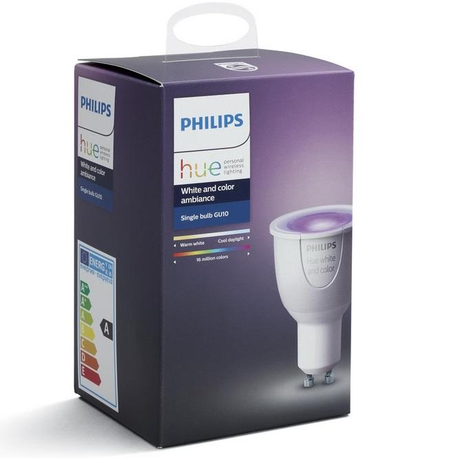 Bild zu Philips Hue LED GU10 White and Colour Ambiance im 4-er Pack für 105,90€ (Vergleich: 156€)
