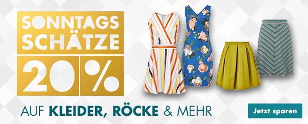 Bild zu Galeria DE Sonntags-Schätze, so z.B. 20% Rabatt auf Kleider und Röcke