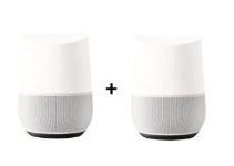 Bild zu 2x GOOGLE Home, Smart Speaker, Weiß/Schiefer für 89€ (VG: 99,90€)