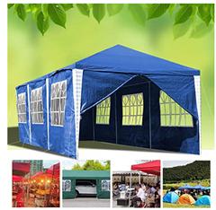 Bild zu wolketon Pavillon 3×9 m in 3 verschiedenen Farben mit 6 Seitenwänden für 67,89€