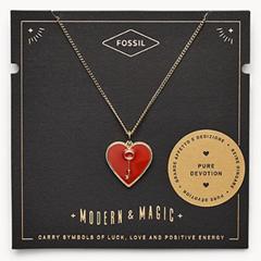 """Bild zu Fossil Damen Halskette """"Heart and Key"""" (JF03297710) für 19,60€ (Vergleich: 35€)"""