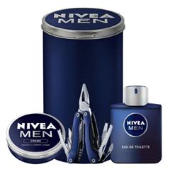 Bild zu NIVEA MEN Geschenkset 4-teilig (Eau de Toilette, Creme, Multitool) für 28,99€ (VG: 36€)
