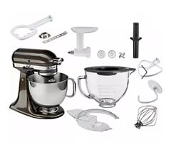 Bild zu [nur noch heute] KitchenAid Küchenmaschine Artisan 5KSM150EBZ + Fleischwolf + Glasschüssel + Zubehör für 384,30€ (Vergleich: 549€)