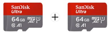 Bild zu Doppelpack SANDISK Ultra UHS-I Micro-SDXC Speicherkarte 64 GB (100 MB/s) für 18€ (Vergleich: 24,88€)