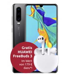 Bild zu Huawei P30 inkl. FreeBuds 3 für 9€ im Telekom Netz mit 8GB LTE Datenflat, SMS und Sprachflat für 20€ im Monat