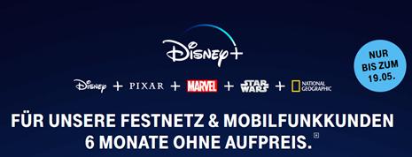 Bild zu [nur noch heute] 6 Monate Disney+ gratis für Telekom Festnetz & Mobilfunkkunden (danach 5€ anstatt 6,99€)