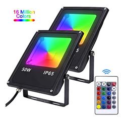 Bild zu Karpal 2er RGB LED Strahler mit Fernbedienung (16 Farben, 4 Modi) ab 14,69€