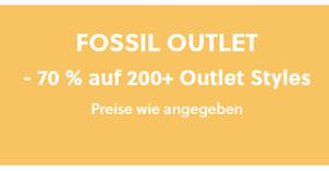 Bild zu [Top -nur noch heute] Fossil: 70% Rabatt auf über 200 Styles im Outlet