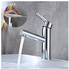 Bild zu Homelody Wasserhahn mit herausziehbarer Messing Brause für 30,99€