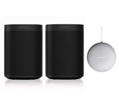 Bild zu Sonos One SL Stereo Set (2er Pack) + Google Nest Mini für 339,95€