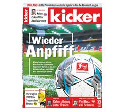"""Bild zu [Top] Jahresabo (104 Ausgaben) """"Kicker"""" für 230,40€ + 180€ Verrechnungsscheck als Prämie"""