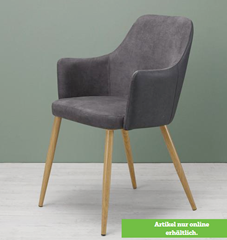 Bild zu Bessagi Armlehnstuhl in Grau 'Chrisi' für 37,74€