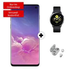 Bild zu SAMSUNG Galaxy S10 Dual-SIM & Samsung Galaxy Watch Active 40mm & Samsung Galaxy Buds für 29€ mit 20GB Datenflat, SMS und Sprachflat im o2 Netz für 29,99€/Monat