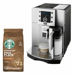 Bild zu Kaffeevollautomaten DeLonghi ESAM 5500.S + 200g Starbucks Kaffeebohnen für 399,90€ (Vergleich: 462,37€)