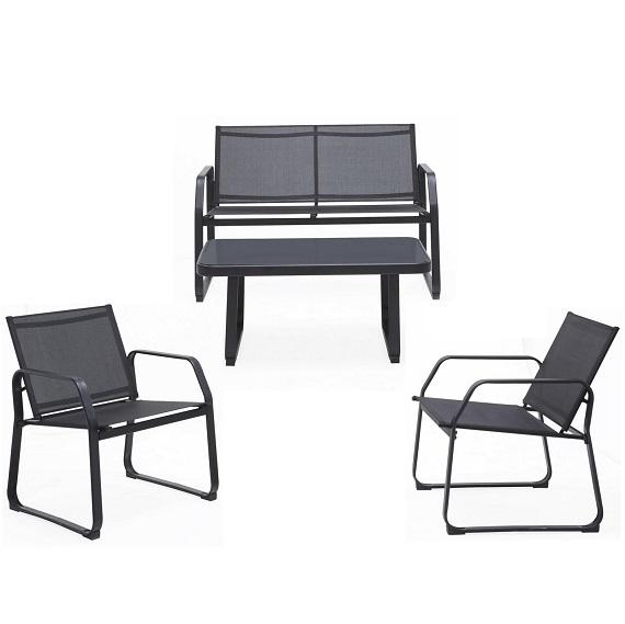 Bild zu Loungegarnitur Pentos mit  zwei Stühlen, Tisch und Bank für 114,20€ (Selbstabholung: 74,25€)