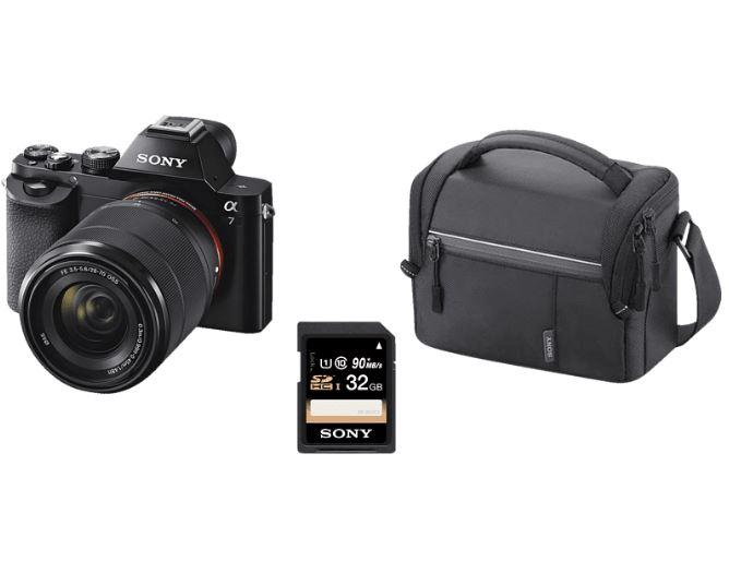 Bild zu [Top] Vollformatkamera Set: SONY Alpha 7 Kit (ILCE-7KB) + Tasche + Speicherkarte für 555€ (VG: 699€)
