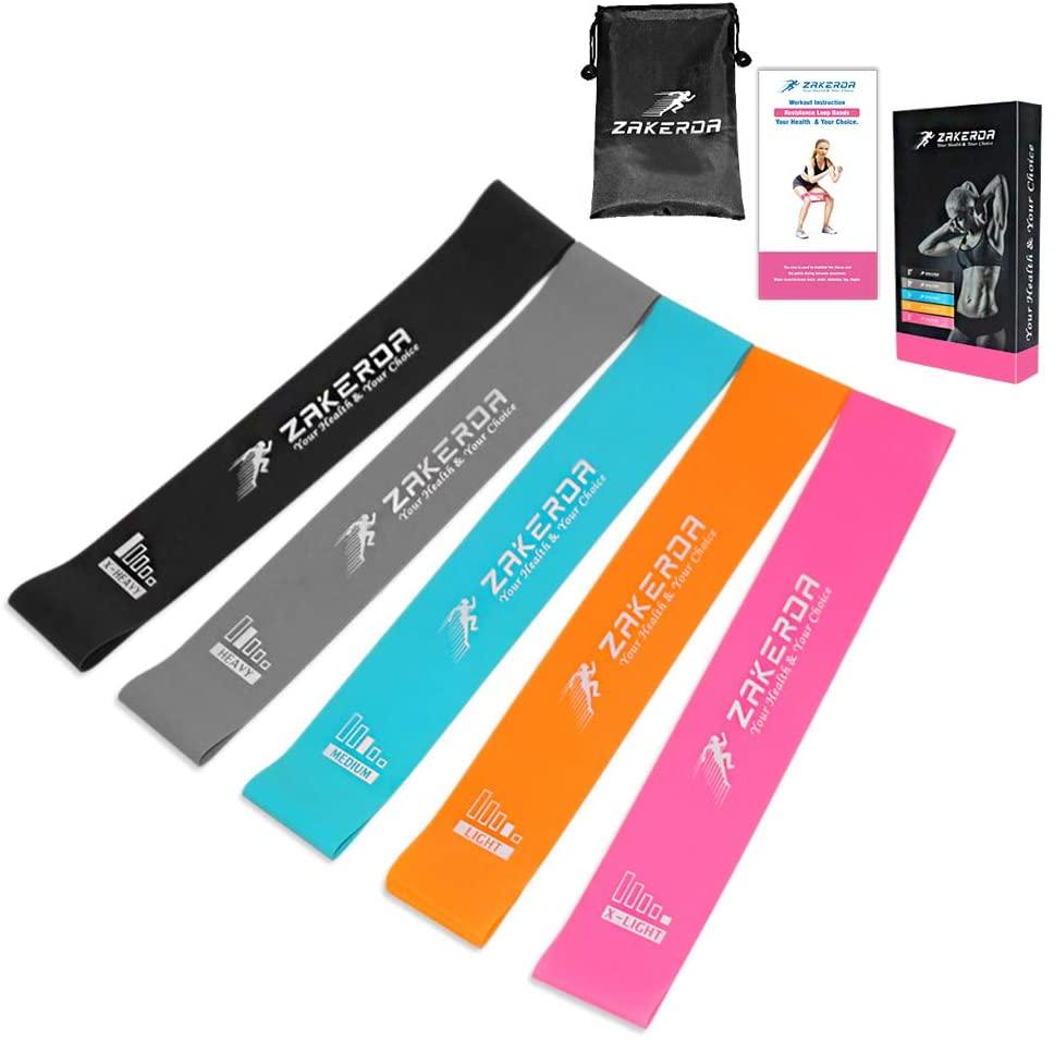 Bild zu 5er Set Pezimu Fitnessbänder im Tragebeutel für 6,98€