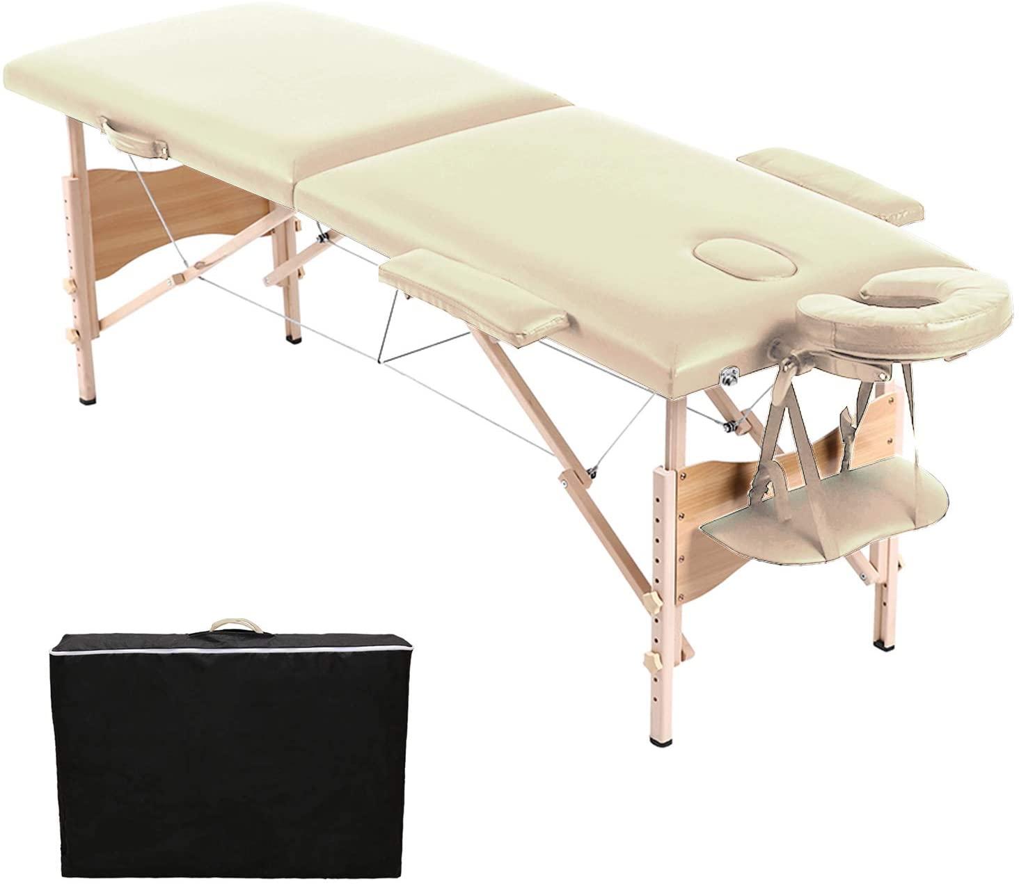 Bild zu Höhenverstellbare und klappbare Hengda Massageliege mit zwei Zonen ab 63,59€