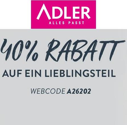 Bild zu Adler Mode: 40% Rabatt auf ein Lieblingsteil