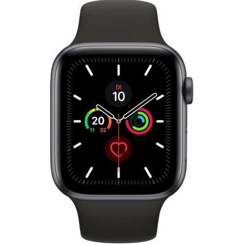 Bild zu Apple Watch Series 5 (44mm) Alu 32GB GPS (MWVF2LL/A) Sportarmband spacegrey für 413,91€ (VG: 459€)