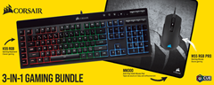 Bild zu CORSAIR 3in1 Gaming Bundle (K55+M55 RGB Pro+MM300) für 69€