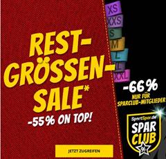 Bild zu SportSpar Restgrößen-Sale mit 55% Extra-Rabatt