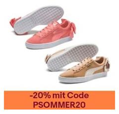 Bild zu PUMA Suede Bow Damen Sneaker für je 22,39€ (Vergleich: 35,07€)
