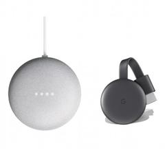 Bild zu Google Nest Mini + Google Chromecast 3 für 65€ (Vergleich: 81,94€)