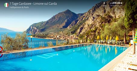 Bild zu 7 Tage Gardasee im 3 Sterne Hotel mit Halbpension ab 219€ pro Person