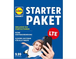 Bild zu Lidl Connect Starter Paket mit 50% Rabatt + versandkostenfrei mit 10€ Guthaben für 4,99€