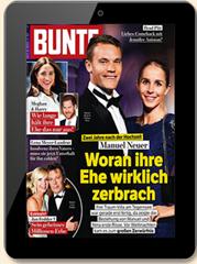 Bild zu BUNTE E-Paper zum Preis von 67,60 € (26 Ausgaben) für 6 Monate + 70€ BestChoice Gutschein als Prämie