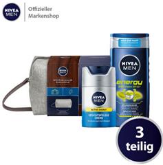 Bild zu NIVEA MEN Weltenbummler Geschenkset, Kulturtasche für Männer mit Pflegedusche und Gesichtspflege Creme für 12,79€