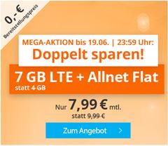 Bild zu Sim.de: o2-Netz mit 7GB LTE Datenflat, SMS und Sprachflat für 7,99€/Monat – optional monatlich kündbar