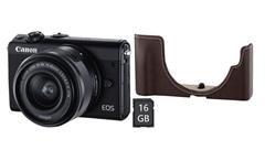 Bild zu CANON EOS M100 Systemkamera 24.2 Megapixel mit Objektiv 15-45 mm für 299€