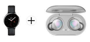Bild zu Samsung Galaxy Watch Active 2 Stainless Steel 44mm (LTE) + Galaxy Buds für 319€ (Vergleich: 397,95€)