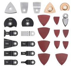 Bild zu 66-teiliges Säge- sowie Schleifaufsätze Set für Multifunktionsgeräte, wie z.B. Bosch, Fein usw. für 23,99€